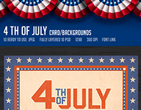 July 4th Backgrounds/ Cards