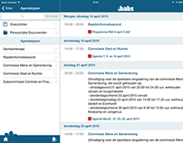 iBabs iPad paperless meetings design