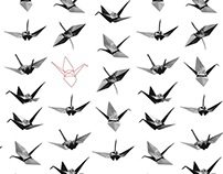 Paper Crane Origami Wedding Invation