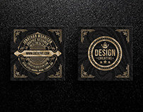 Square Elegant Business Card