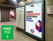 Free London Underground Ad Screen Mock-Up 4
