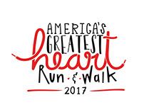 America's Greatest Heart Run & Walk 2017 Logo