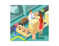 Airport illustrations