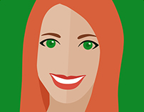 Flat Design Avatar Self Portrait
