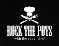 ROCK THE POTS - Logo + Menu Design