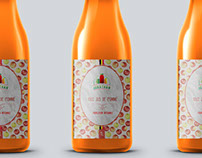 Stickers of a bottle juice : Jus de Jonathan