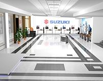 Renovación de Sala de Ventas Autos Suzuki en 3D