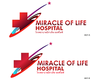 MIRACLE OF LIFE hospital LOGO design
