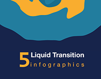 Liquid Transition infographics free Template