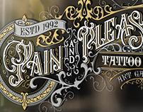 Pain And Pleasure Tattoo logo design