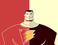 Shazam / Black Adam - Vector