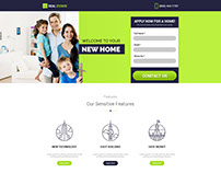 Real Estate Landing Page Design Template With Free