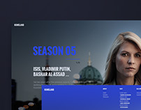 Homeland website concept
