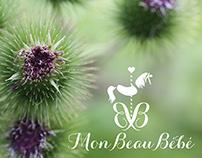 Logo concept for Mon Beau Bébé, a boutique for mothers