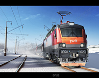 Russian electric locomotives of EP series
