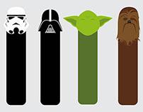Minimalist Bookmarks | Star Wars