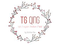 TG QING | Font