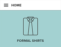 Home Screen of an Online Cloth Store