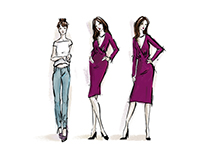 Fashion illustrations for online campaign