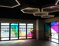Food court Glass Door Graphics