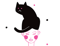"Illustration Set ""Lola and the Cat"""