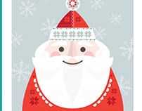 Festive faces. Greeting card designs.