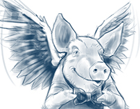 Flying pig - logo animation