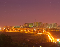 City night panorama