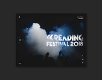 Reading Festival | Website Design Concept