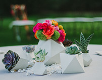 BRIGHT GEOMETRIC WEDDING