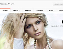 Online Shop Design - FashionMani.com :)