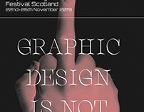 GRAPHIC DESIGN FESTIVAL SCOTLAND COLLAB WARRIORS STUDIO