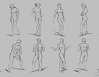 Figure Drawing 11/30 (Andrew Loomis's Method)