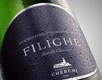 Sparkling wine label. Filighe