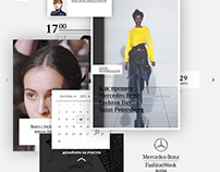Website for Mercedes Benz Fashion Week