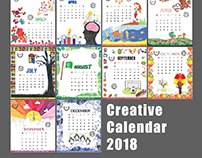 Creative Calendar Design 2018