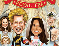 RoyalTea caricature packaging