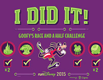 2015 Walt Disney World Marathon Weekend I DID IT shirts