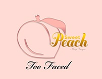 Too Faced inspired logo Sweet Peach