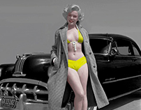 Marilyn Monroe colorized.