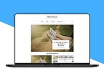 Modní blog - redesign + WordPress theme