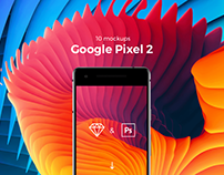 10 Google Pixel 2 Mockups