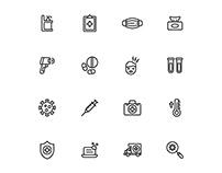 Covid-19 Icons Set