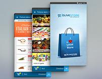 Olivestore Mobile App Design.