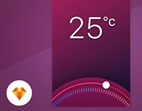 Thermostat App - Day82 UI/UX Free SketchApp Challenge