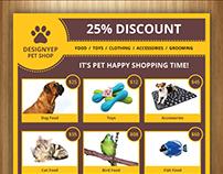 Free Pet Shop Flyer PSD Template