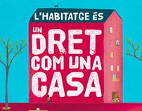 """Ajuntament de Barcelona """"Un dret com una casa"""""""