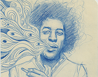 Hendrix Sketch