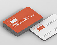 Business Card Mockup Stack Round Corners