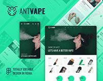 AntVape – Vape Shop UI Template